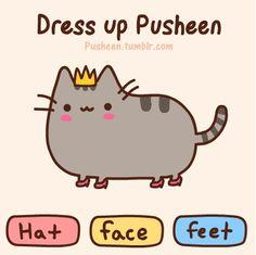 Pusheen dress up game!!!!