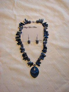 Blue Moon Necklace Set by ShayeLeesPlace on Etsy, $15.00