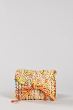 M Missoni Multicolor Raffia Crossbody Bag