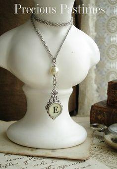 Typewriter Key Jewelry  Cream Letter E by PreciousPastimes on Etsy