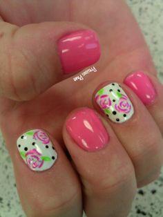 Floral spring nails