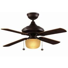 Oil rubbed bronze ceiling fan for garage apartment living room