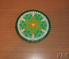 Lime Citrus Fruit Coaster perler beads by karen3367