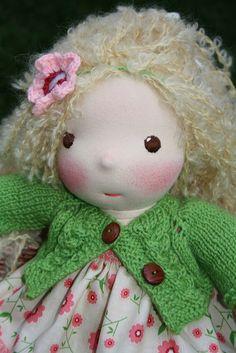 I like how she does the eyes!  :) #waldorf doll