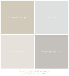 Learn how to paint with neutrals that transition from one room to another & the best neutral paint colors. See them used in rooms at julieblanner.com