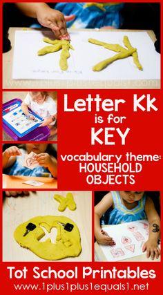 Tot School Printables Letter K is for Key {free} from @{1plus1plus1} Carisa #totschool