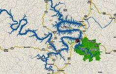"""A map of """"Lake Of The Ozarks"""""""