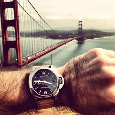 """It took 2 trips to have the fog lifted but got an amazing view"" Thanks Ryan S. for entering this #Panerai #watch in our Show & Sell contest. #watchstraps #mensaccessories #menstyle"