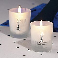 Eiffel Tower Votive Candle