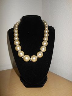 Classic Pearls/Glass pearl necklace with by CreationsbyMaryEllen, $15.99 15 % off until 2-14