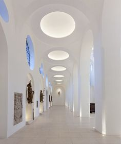 St Moritz Church, Augsburg, Germany.  Medieval church receives modern interior makeover after generations of fire and war damage.  Stunning simplicity. ~Z