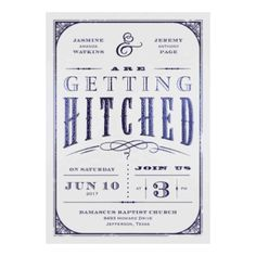 Getting Hitched With Style Glitter - Apple - Invitation | Invitations By David's Bridal