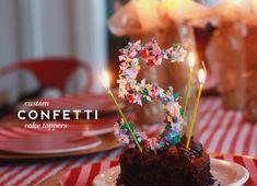 Aunt Peaches: Confetti Cake Toppers