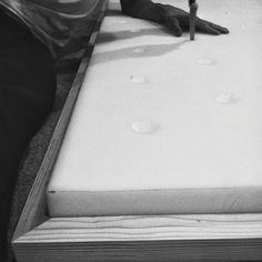 Deep Tufted Headboard In Process - sarah m. dorsey designs