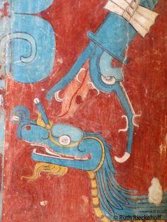 Snake representation, Cacaxtla, Mexico