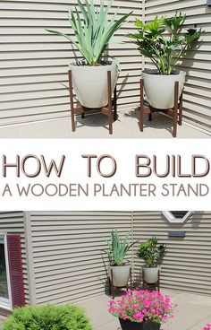 How to Build a Wooden Planter Stand by Home Coming, via Flickr