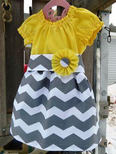 Peasant dress Easter dress Chevron dress by GVinahandmadeshop, $39.99