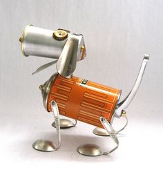 Thermond - Found Object Robot Dog Assemblage Sculpture  via adopt-a-bot