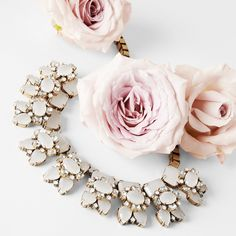J. Crew and roses #wedding statement necklaces, accessori