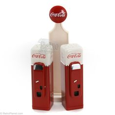 Coca Cola Machine Salt & Pepper Shakers