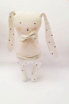 Plush Bunny Plush animal toy Soft Sculpture Bunny door FehuDolls