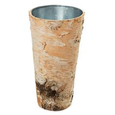 Natural Bark Vase- @ Jackie Hulley... thought it'd go great for your wood themed wedding!! <3