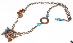 Jewelry Making Idea: Winter Woods Necklace (eebeads.com)