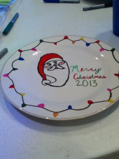 Christmas plate idea