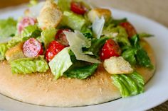 caesar salad pizza by annieseats, via Flickr