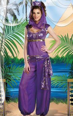 frete grátis de alta qualidade linda fantasia de carnaval genie vestuário para mulheres pp1222