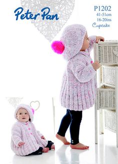 NobleKnits.com - Peter Pan Cupcake Girls Swing Coat and Hat Knitting Pattern 1202, $5.95 (http://www.nobleknits.com/peter-pan-cupcake-girls-swing-coat-and-hat-knitting-pattern-1202/)