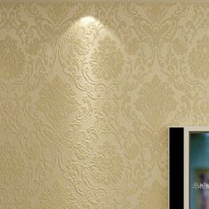 Classic European Wallpaper Embossed Damask Wall paper Roll For Sofa TV Backdrop Wall Living room Bedroom Beige Blue Coffee R94-in Wallpapers from Home Improvement on Aliexpress.com