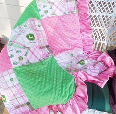 JOHN DEERE baby blanket comforter bedding nursery bedroom room girl. $79.00, via Etsy. Comfort Bed, John Deer, Baby Blankets, Babi Girl, Bed Girl, Babi Stuff, Blanket Comfort, Deer Babi, Babi Blanket
