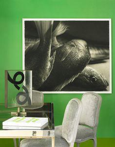 Lime green interiors by Doug & Gene Meyer