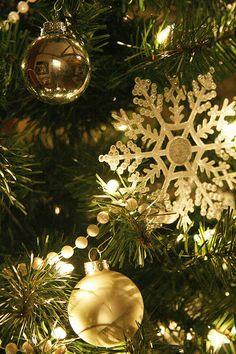 Pretty!!  I Love Snowflakes on the Tree!!! :)) <3