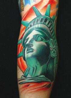Statue of Liberty by Aric Taylor #InkedMagazine #inked #statue #liberty #tattoo #tattoos #patriotic #NYC