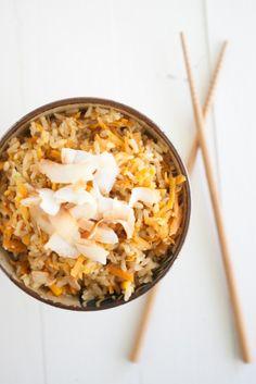 Carrot-ginger brown rice.