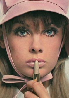 Frosted white lipstick; Jean Shrimpton for Yardley of London; about 1967 ~
