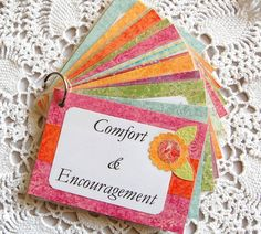 Scripture Memory Bible Verse Card Set Comfort and Encouragement Mothers Day Gift.
