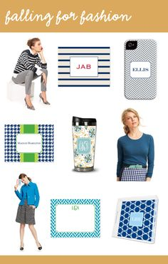 Live Your Style by Boatman Geller: Falling for Fashion! #Fall #Fashion #monograms #stationery