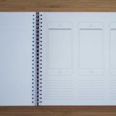 Mobile Dot Grid Book (A4, Brown) • Dotgrid.co • Dot grid books for designers