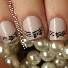 Bow Tip Nail Art Water Transfer Decal by Hailthenails on Etsy, £1.99