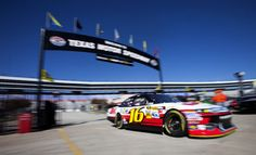 Greg Biffle rolls out for NASCAR Sprint Cup practice at Texas Motor Speedway.