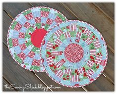 The Sewing Chick: A Christmas Tutorial - Checkered Chargers