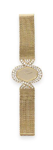A GOLD AND DIAMOND WRISTWATCH, BY BOUCHERON--- WOW!