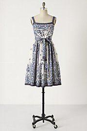 Delft dress: Anthropologie