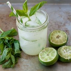 Minty #limeade. This is a refreshing #summertime drink that the whole family can enjoy!
