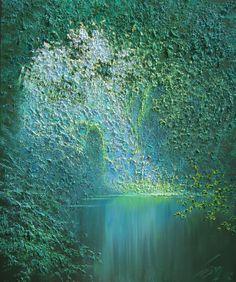 'Emerald Stream' by Taras Loboda Oil on Canvas 110cm x 95cm