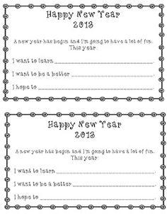 Freebie to help your kiddos set New Year Goals! - Kindergarten Korner