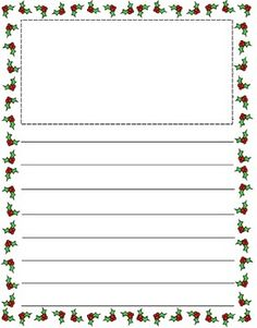 themed writing paper more holiday ideas first grade writing paper ...